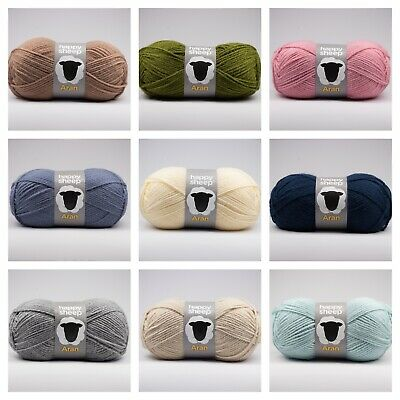 Happy Sheep Aran Acrylic Knitting Yarn / Crochet Wool 100g - Choice Of Shades  • 2.99£