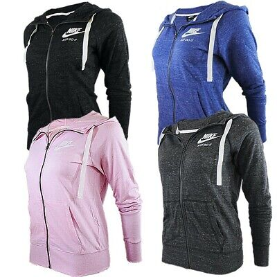 Nike M NSW GYM Women Hooded Tracktop Anthracite Blue Pink Black Gym Hoodie NEW • 60.07£