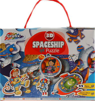 Spaceship 3D Outer Space 45 Piece Jigsaw Puzzle • 6.99£
