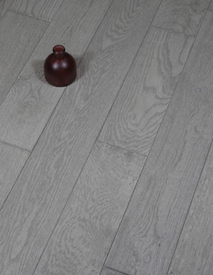 £0.99 • Buy Pebble Oak Grey Engineered Wood Flooring Packs 14mm Thick T&G Brushed UV Lacquer