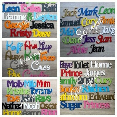 Personalised Wooden Name Plaques Words/Letters Wall/Door Art/craft/Sign • 5.59£