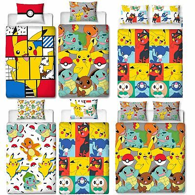 Official Pokemon Licensed Duvet Covers Single/Double Pikachu Bedding Gaming • 15.99£
