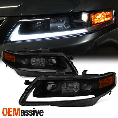$264.88 • Buy [Black Smoke] 2004 2005 2006 2007 2008 Acura TSX LED Bar Projector Headlights