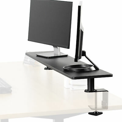 VIVO Black 46  Clamp-on Desk Shelf | Large Monitor Laptop Riser Desk Organizer • 63.83£