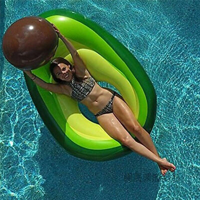 Giant Inflatable Avocado Fruit Swimming Pool Play Float Raft Summer Holiday Toy • 10.91£