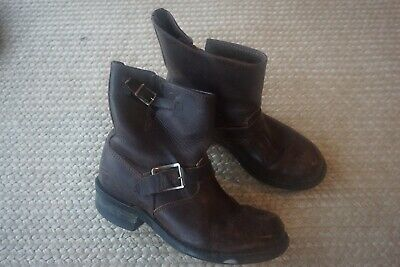 3ef20e25af828 Frye Boots Round Toe Brown Leather Women s Size 8.5 • 58.00