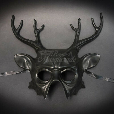 Deer Animal Masquerade Mask, Men's Masquerade Mask, Costume Black Ball Mask • 47.94£