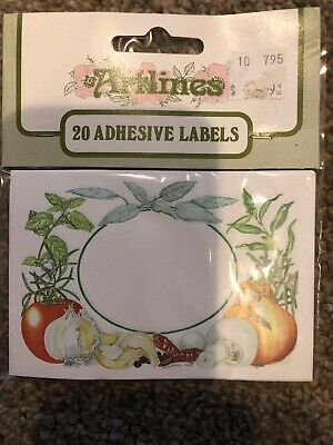 Artlines Home Made Jam Produce 20 Jar Labels Self Adhesive NEW Gummed Labels • 7.20£
