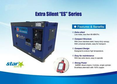AU2413 • Buy Three Phase 6.5kw / 8KVA Extra Slient Diesel Generator Portable Heavy Duty