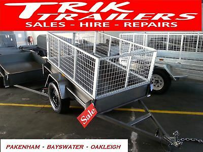 AU1499 • Buy 6x4 Heavy Duty  Box Trailer And Cage