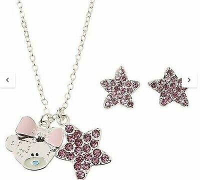 Silver Plated Necklace & Earring Set Me To You Boxed Tatty Teddy  • 8.96£