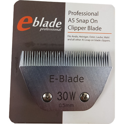 #30W A5 E-BLADE Clipper Blade Fits Laube Oster Wahl Andis Heiniger • 42.70$