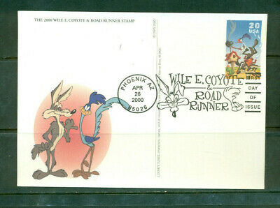 £3.63 • Buy 2000 First Day Of Issue - Postal Card Honoring WILE COYOTE & ROAD RUNNER