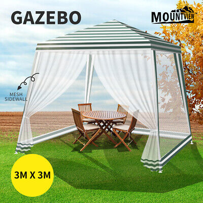 AU69.99 • Buy Mountview Pop Up Marquee Gazebo 3x3m Outdoor Canopy Wedding Tent Mesh Side Wall