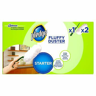 Pledge Fluffy Duster Starter Kit Includes Handle With 2 Refills • 7.95£