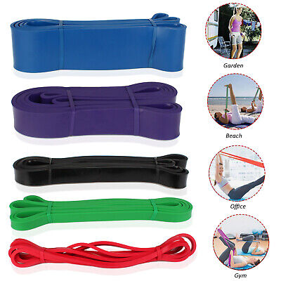 AU17.99 • Buy Pull Up Resistance Bands Rubber Elastic Workout Gym Fitness Yoga Band Loop, Lot