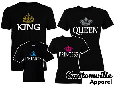 $11.95 • Buy 🔥 King Queen Prince Princess Family Matching Shirts Royal Crown Cruise Vacation