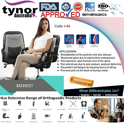 AU74.95 • Buy Tynor™ Orthopaedic Back Rest Pillow Office Chair Car Seat Bed Lumbar Support