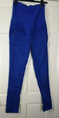 £17.99 • Buy MAMA H&M Maternity Blue Stretch Jean Cargo Over Bump Trousers Size EUR 38