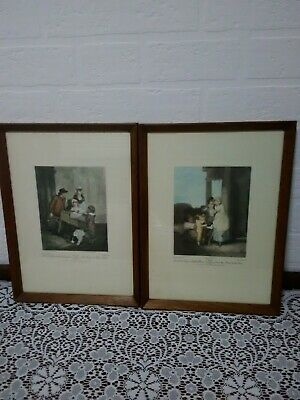 2 Antique Engraved Plate Framed Prints, Cries Of London Plates 8 And 12 • 15.99£