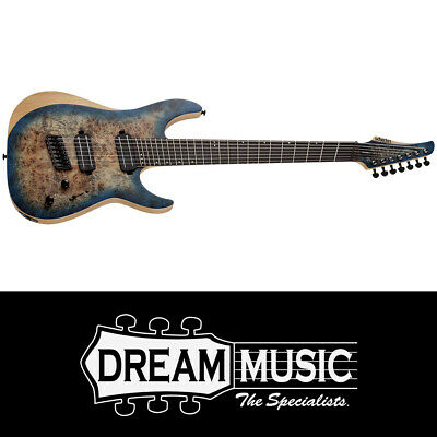 AU1799 • Buy Schecter SCH1510 Reaper 7 Multi Scale SYB 7 String Electric Guitar RRP$2249