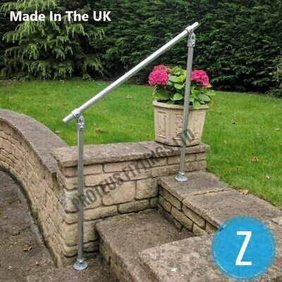 £68 • Buy Variable Angle Mobility Handrail Outdoor Safety Metal Grab Rail Garden Steps Z