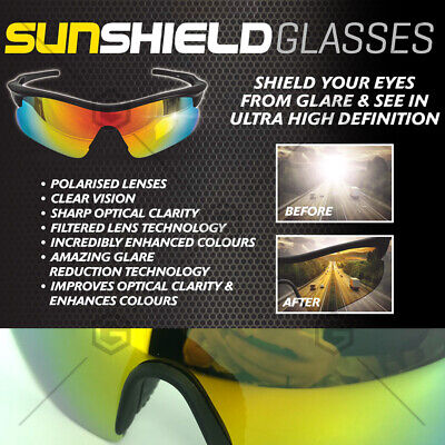 AU17.99 • Buy Sun Shield Tac Glasses Au Standard Compliant Uv Protection Polarised