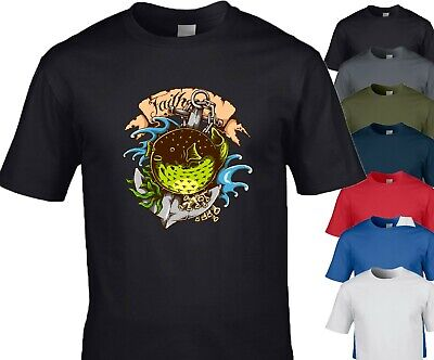 Nautical Inspired Anchor Puffer Fish T-Shirt, Perfect For Ocean Enthusiast • 8.99£