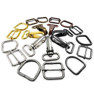 Bag Clasps Lobster And Strap Adjuster And D Rings 20 25 30 Mm Webbing • 3.99£