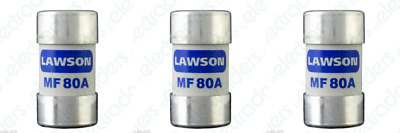 £14.90 • Buy 3 X Lawson MF80A Cut Out Fuses - 80 Amp BS88