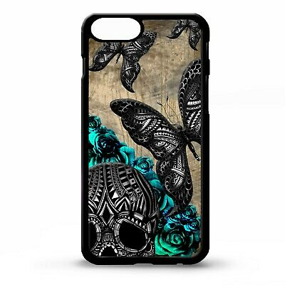 $ CDN17.15 • Buy Butterflies Flying Skull Blue Roses Butterfly Pattern Gothic Phone Case Cover