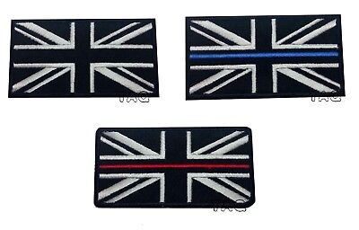 UK BLACK FLAG IRON-ON PATCH UNION JACK Great Britain ENGLAND Embroidered  • 1.89£