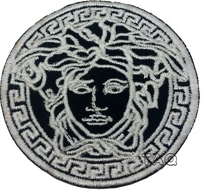Silver Medusa Head Logo Iron On/sew On Embroidered Patch 215 • 2.29£