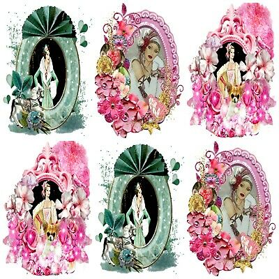 £2.90 • Buy Pink Perfection Art Deco Embellishments, Card Making Toppers,Card Toppers