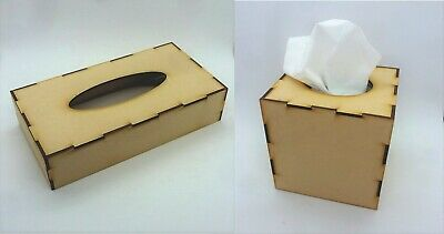 £2.85 • Buy TISSUE BOX COVER Mixed Media Artist Board Blank MDF Wooden I30 Cube Rectangle