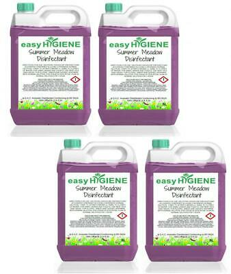 20 Litre SUMMER MEADOW Disinfectant 4x 5L FRAGRANCE Kennel Cleaner Patio Pet Dog • 16.99£