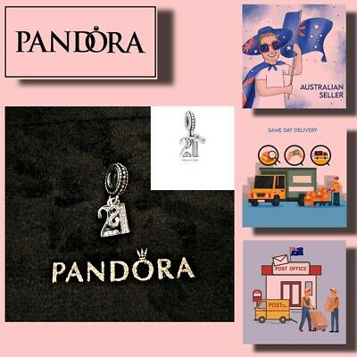 AU42.99 • Buy PANDORA CHARMS Birthday 21st Celebration Hanging Charm 【AU Stock】Item 797263CZ
