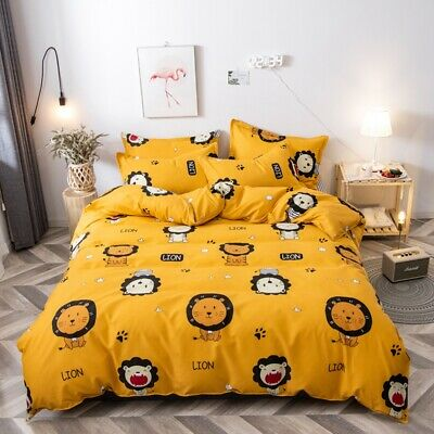 Cat Kids Duvet Cover With Pillow Case Quilt Cover Bedding Set All Size Cartoon • 36.95£