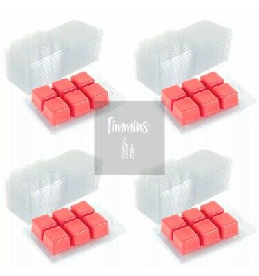 TIMMINS CANDLES - 50 Wax Melt Clamshell Moulds From Recycled Plastic 22mm Deep • 16£