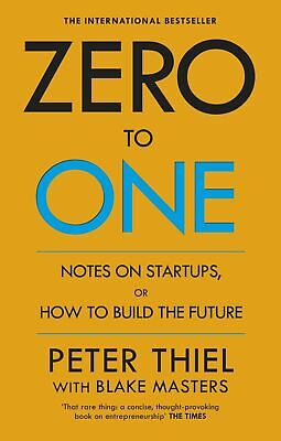 AU25 • Buy Zero To One Notes On Startups By Peter Thiel & Blake Masters (Paperback)