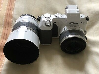 View Details Nikon 1 V2 14.2MP Compact System Camera Twin Lens Kit 10-30 And 30-110 (white) • 300.00£