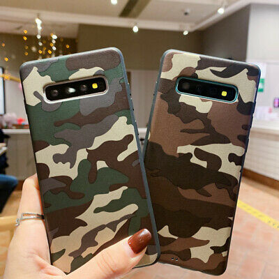$ CDN4.01 • Buy For Samsung S10 S10e S9 S8 Plus S7 Edge Army Camo Camouflage Soft TPU Case Cover