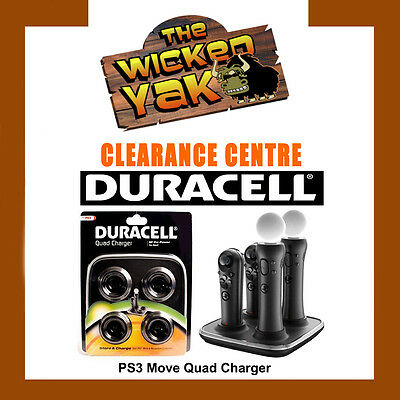 AU19.99 • Buy Playstation PS3 PS4 Move & Navigation Controller Quad Charger By Duracell-NEW