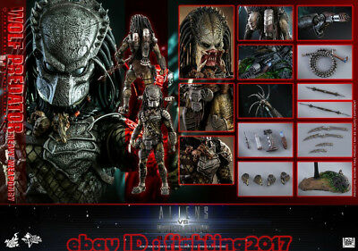 $ CDN804.11 • Buy NEW Hot Toys MMS 443 Aliens Vs Predator AVP Requiem Wolf Predator Heavy Weapon