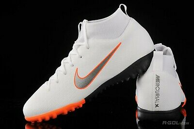 e5a7af3dc Nike Jr Mercurial Superfly X VI Academy TF Turf Soccer Shoes  White-Orange-Black