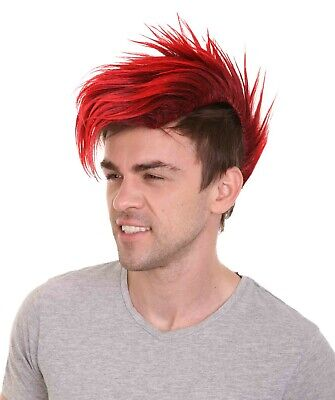$26.85 • Buy Mohawk Brunette Red Straight Rooster Wig Rock Punk Cosplay Party Costume HM-1105