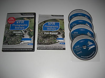 VFR PHOTOGRAPHIC SCENERY Generation X Vol 2 Version 2.0 Central England Pc FSX • 13.99£