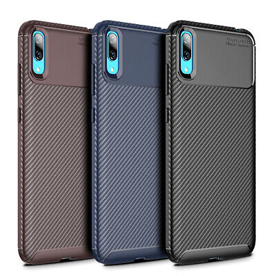 AU8.99 • Buy For Huawei Y7 Pro 2019 Matte Frosted Protective TPU Back Cover Carbon Fiber Case