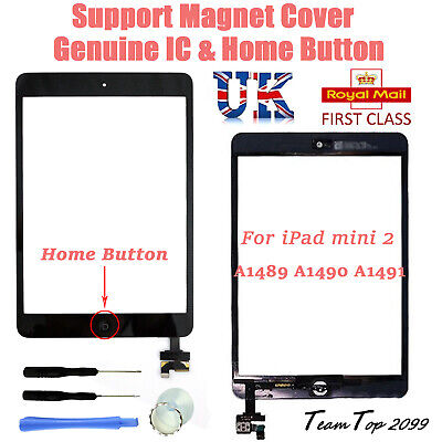 For Apple IPad Mini 2 A1489 A1490 A1491 Digitizer Touch Screen Replacement Black • 14.99£