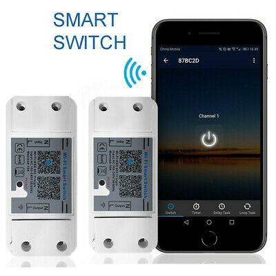 AU34.99 • Buy 2PCS 100-240V WiFi Smart Switch Controller Work With Timer Alexa/Google Home/App